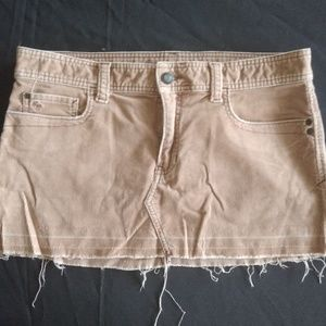 Abercrombie and Fitch Tan/LightBrown Skirt Size 10